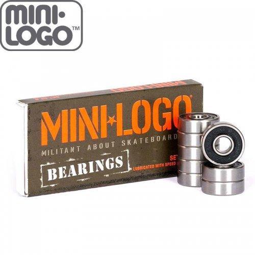 【MINI LOGO ミニロゴ スケートボード ベアリング】8mm 8SET BEARING【ABEC5相当】NO1