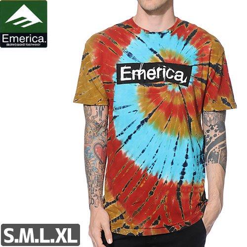 SALE! 【エメリカ EMERICA スケボー Tシャツ】BUSH LEAGUE TEE【ブラック x ブルー】NO121
