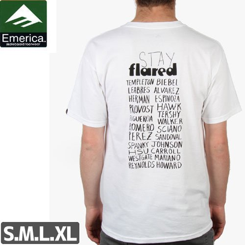 【エメリカ EMERICA スケボー Tシャツ】EMERICA x LAKAI STAY FLARED TEE【コラボ】NO124