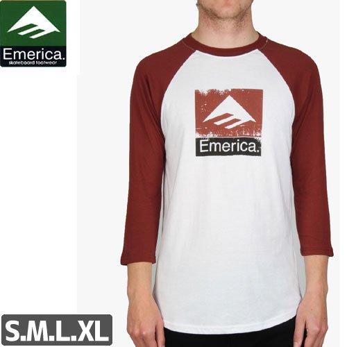 【エメリカ EMERICA スケボー Tシャツ】COMBO ROUGH 3/4 SLEEVE TEE【ラグラン 7分】NO133