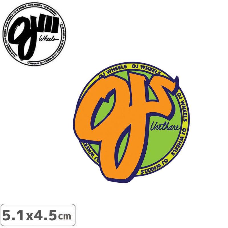 【オージェイ OJ3 スケボー ステッカー】STANDARD【5.1cm × 4.5cm】NO10