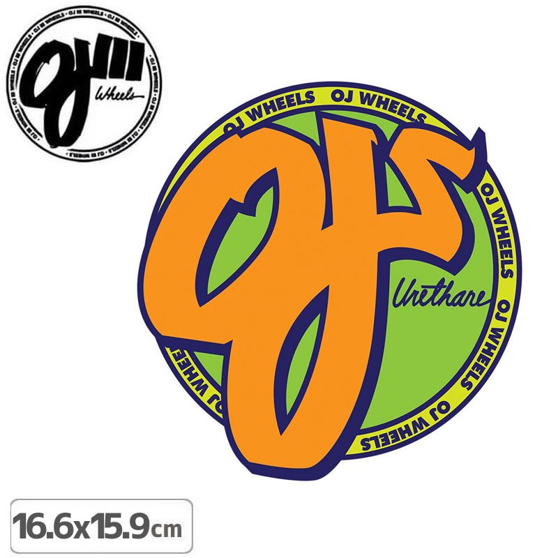 【オージェイ OJ3 スケボー ステッカー】STANDARD【16.6cm × 15.9cm】NO18