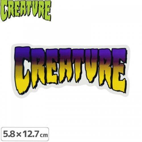 【クリーチャー CREATURE スケボー ステッカー】LOGO STICKER【5.8cm x 12.7cm】NO28