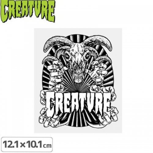 【クリーチャー CREATURE スケボー ステッカー】CEREMONEY STICKER【12.1cm x 10.1cm】NO31