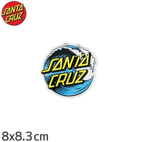【サンタクルーズ SANTACRUZ スケボー ステッカー】WAVE DOT【8cm x 8.3cm】No71
