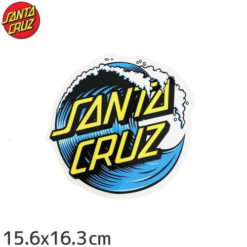 【サンタクルーズ SANTACRUZ スケボー ステッカー】WAVE DOT【15.6cm x 16.3cm】NO72