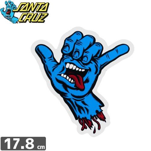 【サンタクルーズ SANTACRUZ スケボー ステッカー】SHAKA HAND STICKER【17.8cm x 15.5cm】NO75