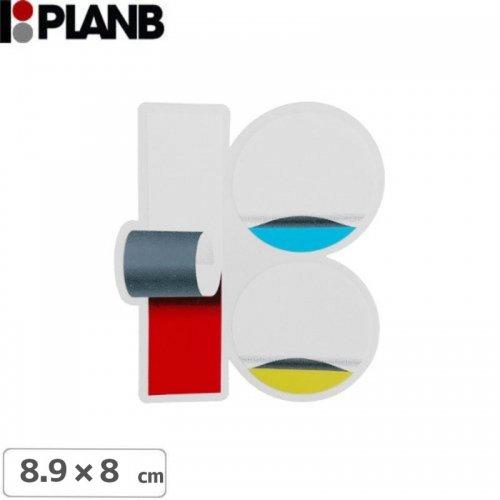 【プランビーPLAN-Bスケボーstickerステッカー】TEAM WRAP STICKER【8.9cm×8cm】NO8