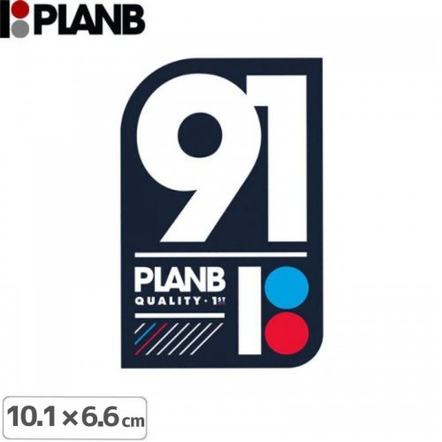 【プランビーPLAN-Bスケボーstickerステッカー】TEAM 91 STICKER【10.1cm×6.6cm】NO9