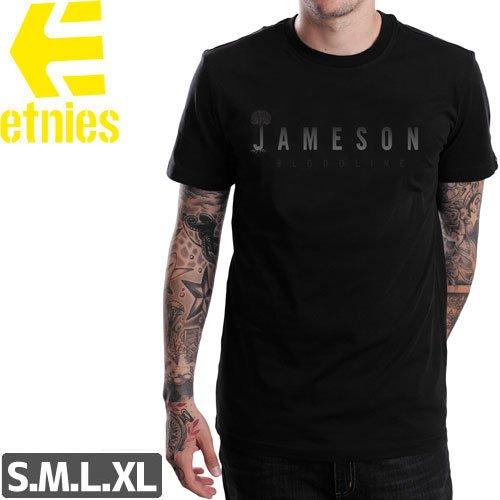 SALE! 【エトニーズ ETNIES スケボー Tシャツ】JAMESON LOGO TEE【ブラック】NO29