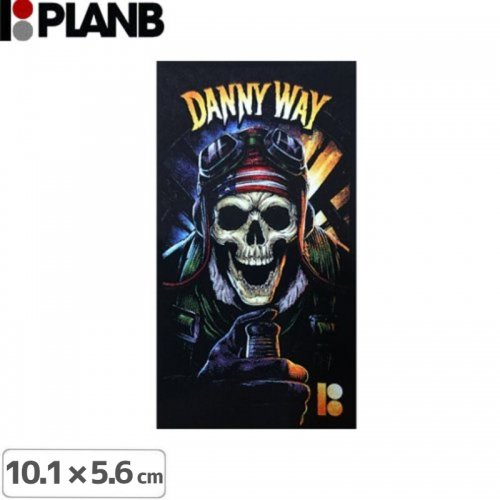 【プランビーPLAN-Bスケボーstickerステッカー】DANNY WAY NO PRISONERS【10.1cm×5.6cm】NO11