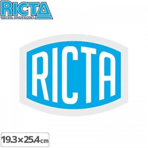 【リクタ RICTA スケボー ステッカー】LOGO STICKER【19.3cm x 25.4cm】NO4