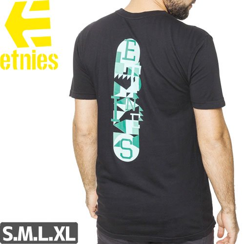 SALE! 【エトニーズ ETNIES スケボー Tシャツ】STONES FRONT AND BACK TEE【ブラック】NO30