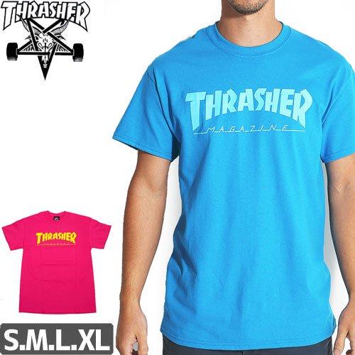 【スラッシャー THRASHER スケボー Tシャツ】USモデル MAGAZINE LOGO TEE NO91