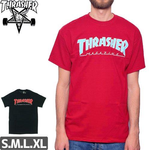 【スラッシャー THRASHER スケボー Tシャツ】(USAモデル)OUTLINE TEE NO92