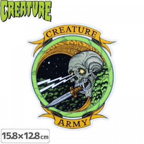 【クリーチャー CREATURE スケボー ステッカー】ARMY STICKER【15.8cm x 12.8cm】NO34