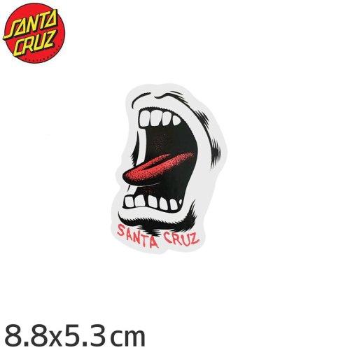 【サンタクルーズ SANTACRUZ スケボー ステッカー】SCREAMING MOUTH STICKER【8.8cm x 5.3cm】NO77