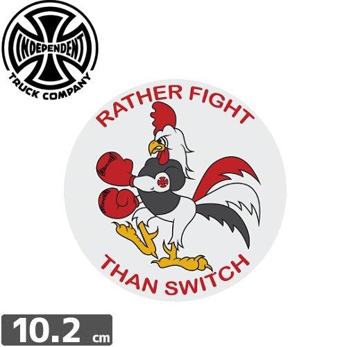 【インディペンデント INDEPENDENT スケボー ステッカー】RATHER FIGHT【10.2cm x 10.2cm】NO95