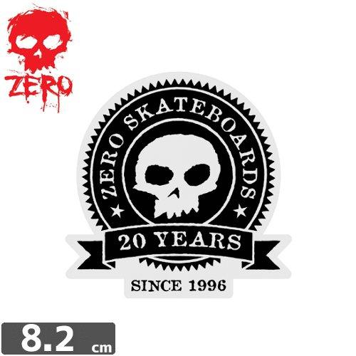 【ゼロ ZERO スケボー ステッカー】ZERO 20 YEAR ANNIVERSARY【8.2cm x 8.2cm】NO79