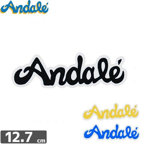 【アンデール ANDAL スケボー ステッカー】ANDAL LOGO STICKER【3色】【3.8cm x 12.7cm】NO4