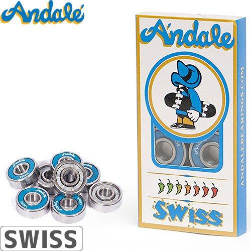 【ANDALE アンダレー スケボー ベアリング】BEARINGS SWISS【ABEC7以上】NO5