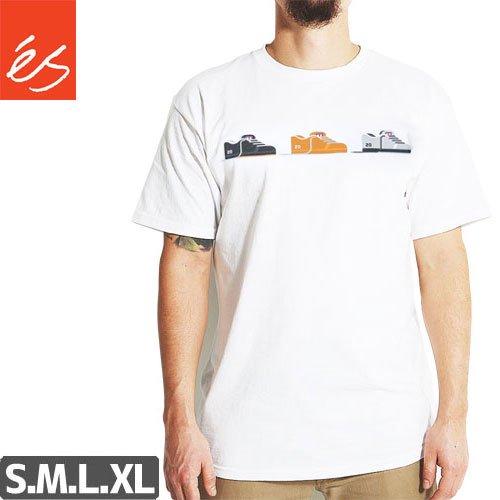 【エススケートボード ES FOOTWEAR スケボー Tシャツ】SAL 20 TEE【ホワイト】NO31