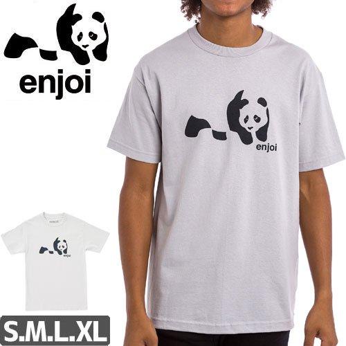 【ENJOI エンジョイ スケートボード Tシャツ】PANDA SPLICE TEE【シルバー】【ホワイト】NO77