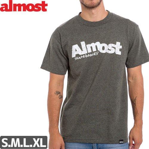 【ALMOST オルモスト スケートボード Tシャツ】WORN OUT LOGO TEE【アスレチックヘザー】NO38