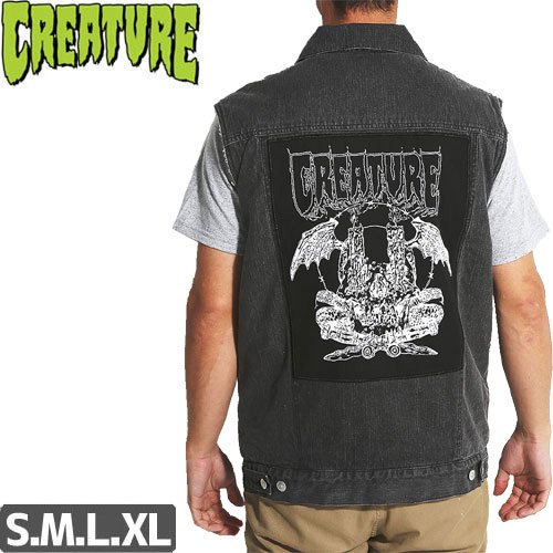 【CREATURE クリーチャー ベスト】PLAGUE BUTTON UP VEST NO7