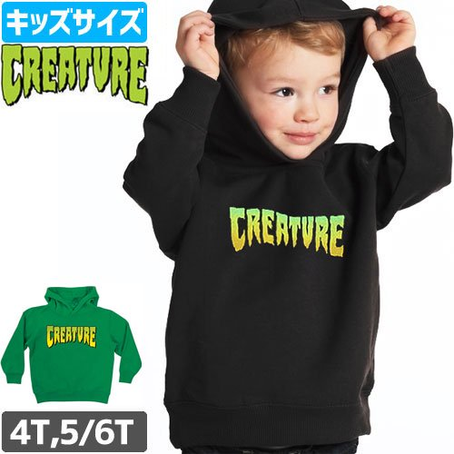 【CREATURE クリーチャー キッズ パーカー】LOGO HOODIE TODDLER【幼児サイズ】NO1