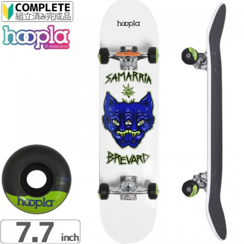 【HOOPLA フープラ スケボー コンプリート】BREVARD PANTHER COMPLETE WHITE[7.75インチ]NO9