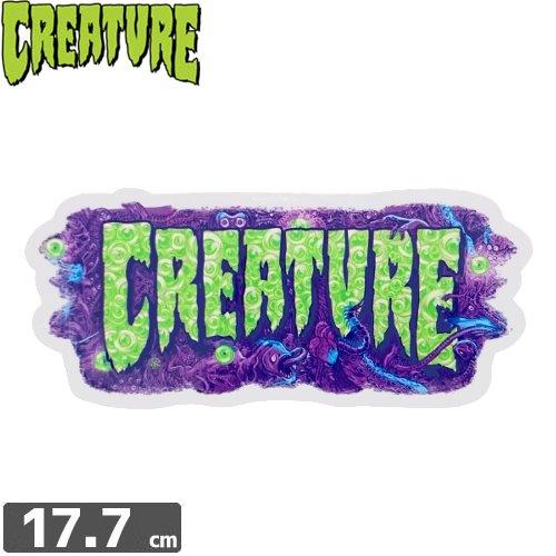 【クリーチャー CREATURE スケボー ステッカー】DETOX【7.5cm x 17.7cm】NO36