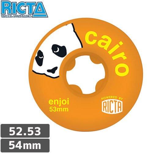 【リクタ RICTA スケボー ウィール】超高品質 ENJOI CAIRO SLIX【52mm】【53mm】【54mm】オレンジ NO27