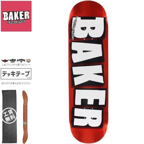 【ベーカー BAKER スケボー デッキ】BRAND LOGO RED FOIL DECK[8.0インチ]NO136