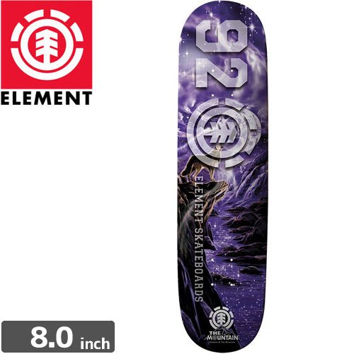 【ELEMENT エレメント デッキ】THE MOUNTAIN x ELEMENT COLLABORATION WOLF DECK[8.0インチ]NO14