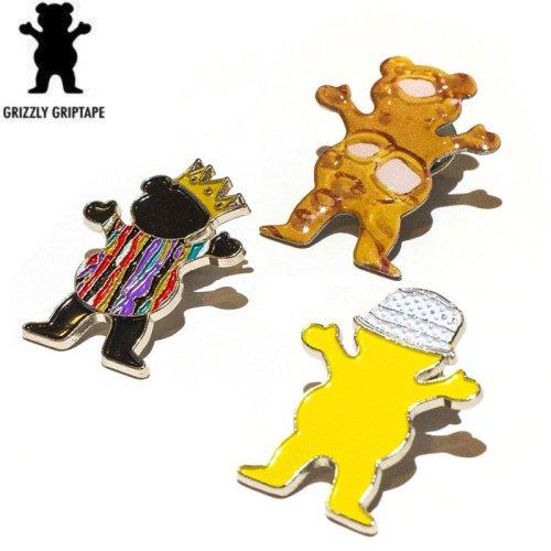 【グリズリー GRIZZLY スケボー ピンバッチ】BEAR PIN【3タイプ】NO2