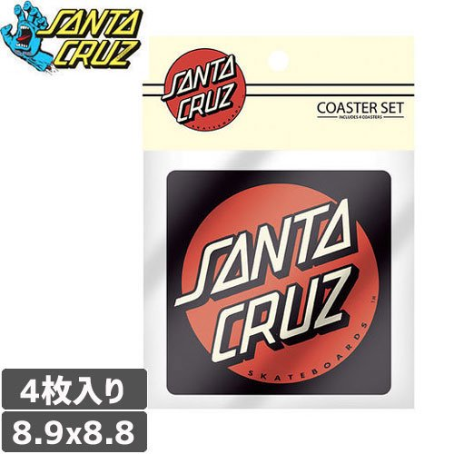 【サンタクルーズ SANTA CRUZ コースター】DOT COASTER 4枚入り【ブラック】NO15