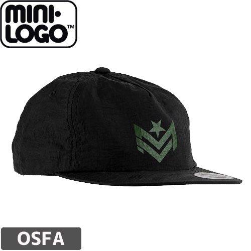【MINI LOGO スケボー キャップ】CHEVRON CAP【ブラック】NO01