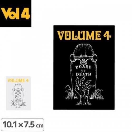 【ボリュームフォー VOL4 スケボー ステッカー】BOARD TO DEATH【2色】【10.1cm x 7.5cm】NO08