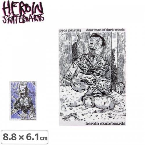 HEROIN ヘロイン スケボー ステッカー TWISTED ROAD【2タイプ】【8.8cm × 6.1cm】NO24