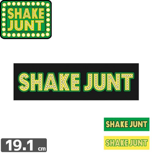 【シェークジャント Shake Junt sticker ステッカー】STRETCH LOGO 2【3色】【5.5cm x 19.1cm】NO40