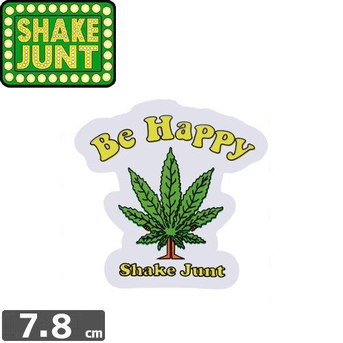 【シェークジャント Shake Junt sticker ステッカー】BE HAPPY【7.6cm x 7.8cm】NO44