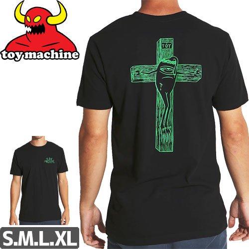 【トイマシーン TOY MACHINE スケボー Tシャツ】FORGIVE THEM TEE【ブラック】NO243