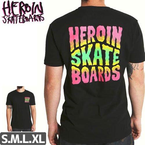 SALE! 【HEROIN ヘロイン スケートボード Tシャツ】SQUARED LOGO TEE【ブラック】NO18