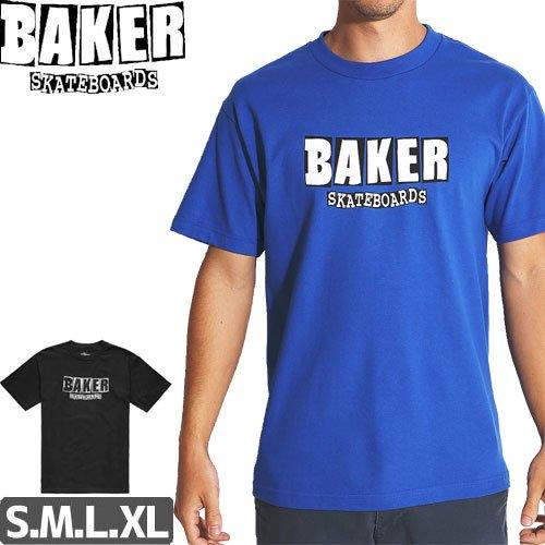 SALE! 【BAKER ベーカー スケボー Tシャツ】BRAND LOGO TEE【ブラック】【ブルー】NO56