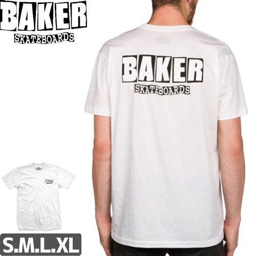 【BAKER ベーカー スケボー Tシャツ】BRAND LOGO DUBS TEE【ホワイト】NO57