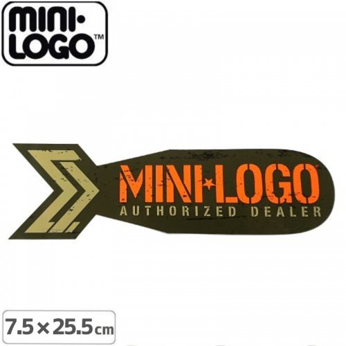【MINI LOGO ミニロゴ ステッカー 】AUTHORIZED DEALER【7.6cm x 25.5cm】NO03
