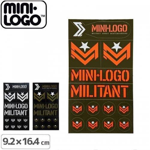 【MINI LOGO ミニロゴ ステッカー】MILITANT STICKER SHEET【9.2cm x 16.4cm】NO04