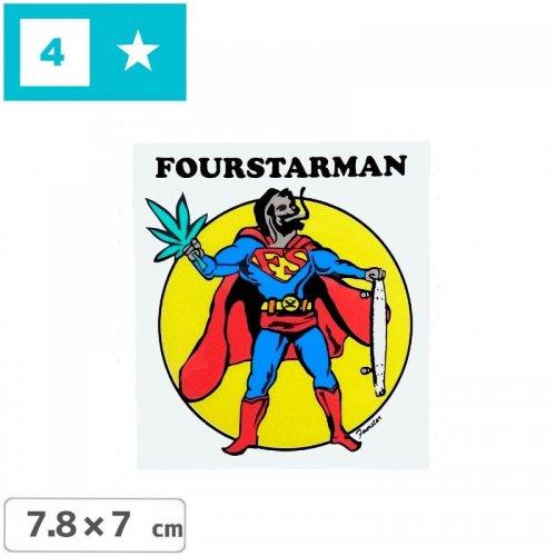 【FOURSTAR フォースター Sticker ステッカー】FOURSTARMAN【7.8cm x 7cm】NO5