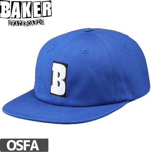 【ベーカー BAKER スケボー キャップ】CARLTON SNAPBACK HAT【ブルー】NO22